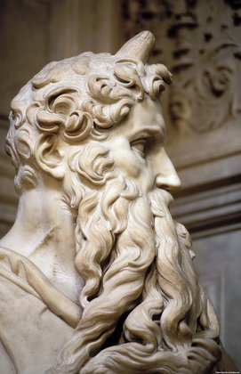 Head of Moses, detail of right side